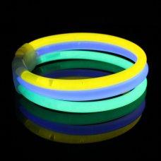 Glow Tri-Colour Wide Bracelet 8in 20cm P1