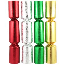 BonBons 8in Foil Red,Green,Gold,Silver Embos Holly Box 100