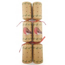 BonBons 10in Kraft Board RED ROBBIN w/Raffia Box 50