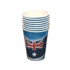 Australian Flag Paper Cup 9oz P8