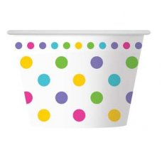 CLEARANCE! Rainbow Polkadot Ice Cream Cup P6