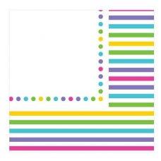 CLEARANCE! Rainbow Stripe Napkins 2Ply P12