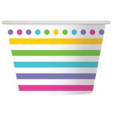 CLEARANCE! Rainbow Stripe Ice Cream Cup P6