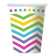 CLEARANCE! Rainbow Chevron Cup 9oz P6
