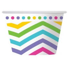 CLEARANCE! Rainbow Chevron Ice Cream Cup P6