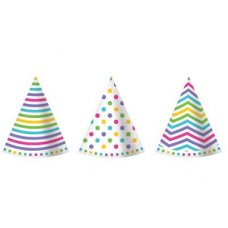 CLEARANCE! Rainbow Cone Hats Mixed P6