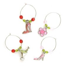 SPECIAL! Wine Charms Martini & Heels P4