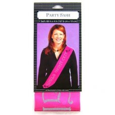 SPECIAL! Pink Satin Sash Girls Night Out P1