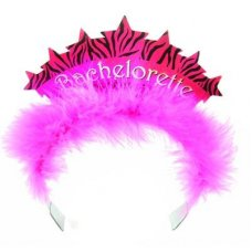 SPECIAL! Pink Tiara with Marabou Girls Night Out P1