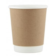 Coffee Cup 8oz. Double Wall Kraft ctn 500 P25x20