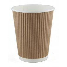 Coffee Cup 12oz. Ripple Wall Kraft ctn 500 P25x20