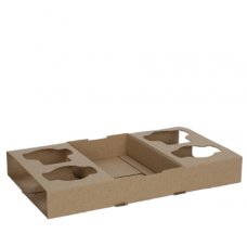 Cup Holder 2or4 Cup Cardboard perforated Ctn 100