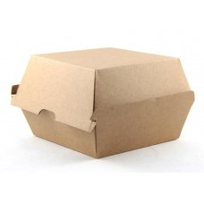 Burger Box Kraft 102x105x80mm Corrugated Ctn250