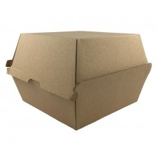 Large Burger Box Kraft 120x120x100mm Corrugated Ctn200