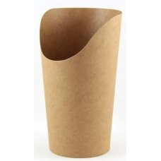 Wrap Cup Kraft Open Top 135x60mm dia ctn 1000 P50x20