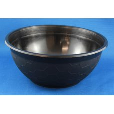 Plastic Bowl Soup/Laksa 1050ml 36oz. PP Black 50x8