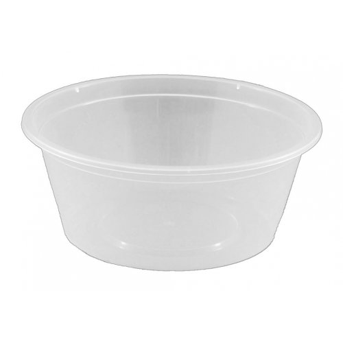 Round Disposable Food Container 280ml PP Clear 100x10
