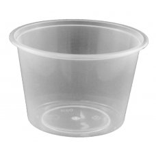 Round Disposable Food Container 540ml PP Clear 50x10
