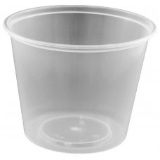 Round Disposable Food Container 700ml PP Clear 50x10