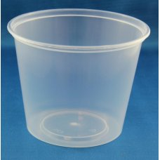 Round Disposable Food Container 750ml PP Clear 50x10