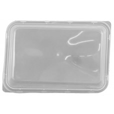 Lid Rect. Dome Plastic PP Clear 50x10