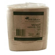 Lunch Napkin ECO BROWN 1ply 300mmx300mm P250X12