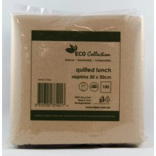 Quilted Napkin ECO BROWN Lunch 300mmx300mm P100x20