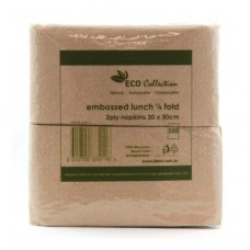 Quilted ECO BROWN M Fold Lunch Napkin P100x20