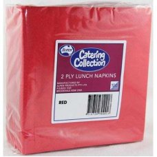 Red  2ply Lunch Napkin P100x20