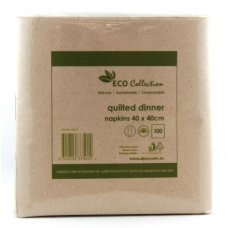 Quilted ECO BROWN Dinner Napkin P100x10