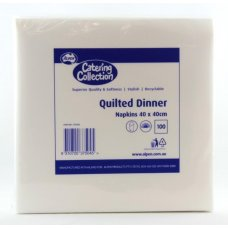 Quilted White Dinner Napkin P100x10