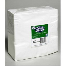 White  2ply Dinner Napkin P100x10