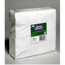 White GT Fold  2ply Dinner Napkin P100x10