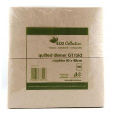 Quilted ECO BROWN GT Fold Dinner Napkin P100x10