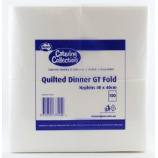 Quilted White GT Fold Dinner Napkin P100x10