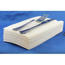 White 1/8 GT Fold Airlaid 60gsm Dinner Napkins P60x12
