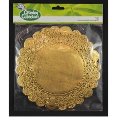 Gold 8.5in (215mm) Round Doyley P12