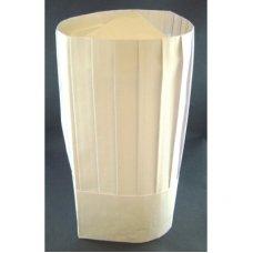 Chef Hat 11.5in 29cm Paper Vertical Pleat White P10x10