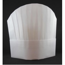 Chef Hat 10in Viscose Round Top White P10x10