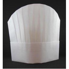 Chef Hat 10in 25cm Viscose Round Top White P10x10