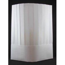 Chef Hat 12in 30cm Viscose Vertical Pleat White P10x10