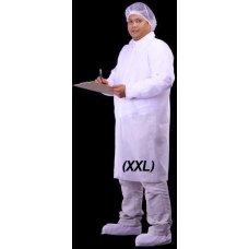 Coat Non Woven with Velcro White XXL Ctn 50