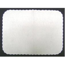 White Scalloped Traycovers 19x15inch P250x4