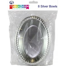 Silver Bowl 7in 175mm Oval P8