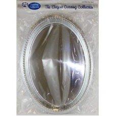 Silver Platter 380x280mm Oval P2