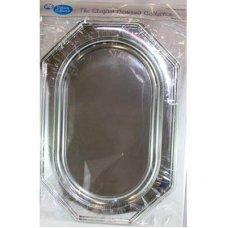Silver Platter 550x380mm Large Rectangle Octagonal P2