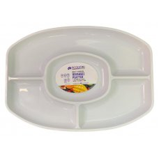 Platter 4 Sectional Oval 46x32.5x3cm White Ctn24