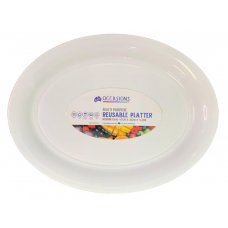 Platter Oval PP 47x35x4.2cm White Medium Ctn24