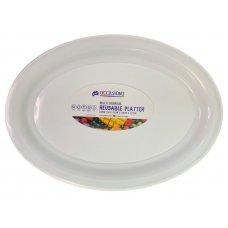 Platter Oval PP 53x38x3.3cm White Large Ctn24