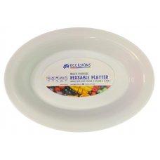 Platter Bowl PP 39.6x27.6x5.7cm White Small Ctn24